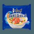康师傅 鲜虾鱼板面 方便面  单包装 95g