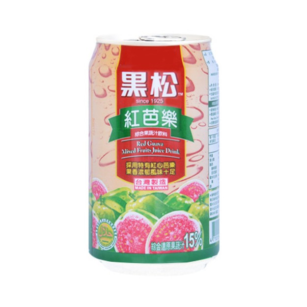 TAIWAN HEY-SONG Red Guava Mixed Fruits Juice Drink 320ml