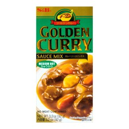 S&B GOLDEN Curry Sauce Mix - Medium Hot 92g
