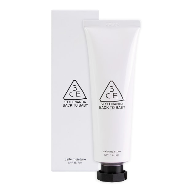 3CE Back To Baby Daily Moisture Primer SPF15 PA+ (White) 30ml