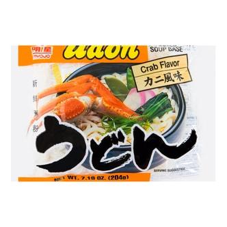 日本MYOJO明星 速食乌冬汤面 海鲜螃蟹风味 204g