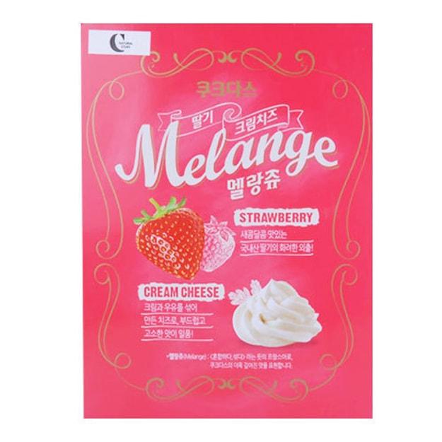 商品详情 - 韩国CROWN 草莓奶油夹心薄脆饼 288g - image  0