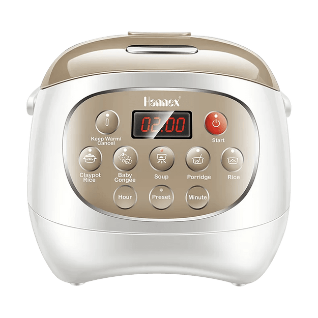 HANNEX Multi Function Ceramic Pot Digital Rice Cooker RCTJ210W 2L 1-4 People Serving
