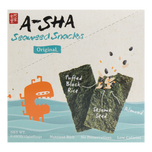 A-Sha Seaweed Snack Original Flavor 6 Bags