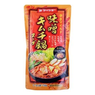 日本DAISHO 日式火锅汤底 味增辣泡菜味 3-4人份 750g