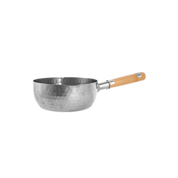 "Lifease Traditional Japanese Yukihira Saucepan Stainless Steel Cooking Pot Wooden Handle-7""/8""[5-7 Days U.S. Shipping]"