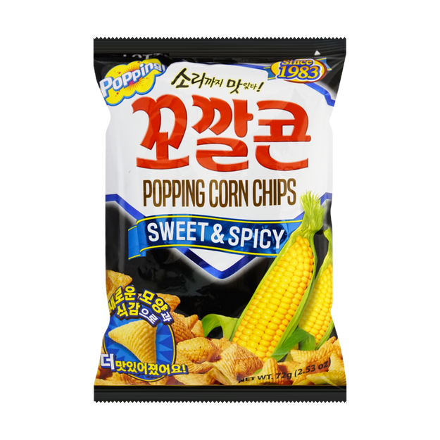 Product Detail - LOTTE Sweet Spicy Corn Snack 72g     - image 0