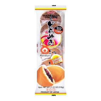 日本丸京菓子庵 铜锣烧 红豆味 6枚入 318g