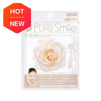 日本PURE SMILE 精华素面膜白玫瑰 单片入