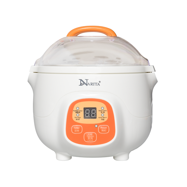 Product Detail - NARITA Ceramic Mini Slow Cooker Digital Electric Stew Pot 0.7L NSQ-70DG - image 0