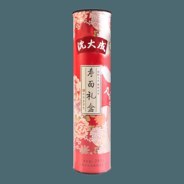 商品详情 - 沈大成 寿面礼盒 桶装 250g 内含鸡翅木筷子 - image  0
