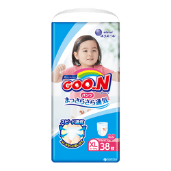 GOO.N Baby Diaper Pants for Girls Type XL Size 12-20kg 38Pcs