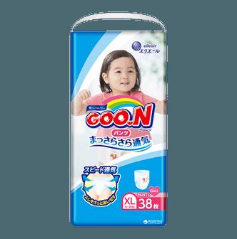 日本GOO.N大王 维E系列拉拉纸尿裤 女宝宝专用 #XL 12-20kg 38枚入