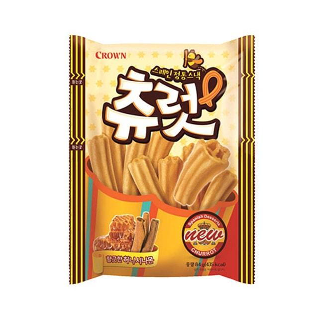 商品详情 - 韩国CROWN 蜂蜜桂皮脆条 84g - image  0