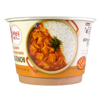COOKED WHITE RICE WITH STIR-FIRED KIMCHI 270g