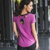 SYLPHLIKE LOLI Sports Beauty Back T-Shirt  For Running Fitness/Purple#/M