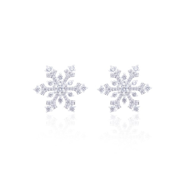 Product Detail - ARSIS snow flakes stud earrings 1 pair - image 0