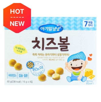 ILDONG Baby Finger Boro Snack-Cheese Flavor 60g 7M+
