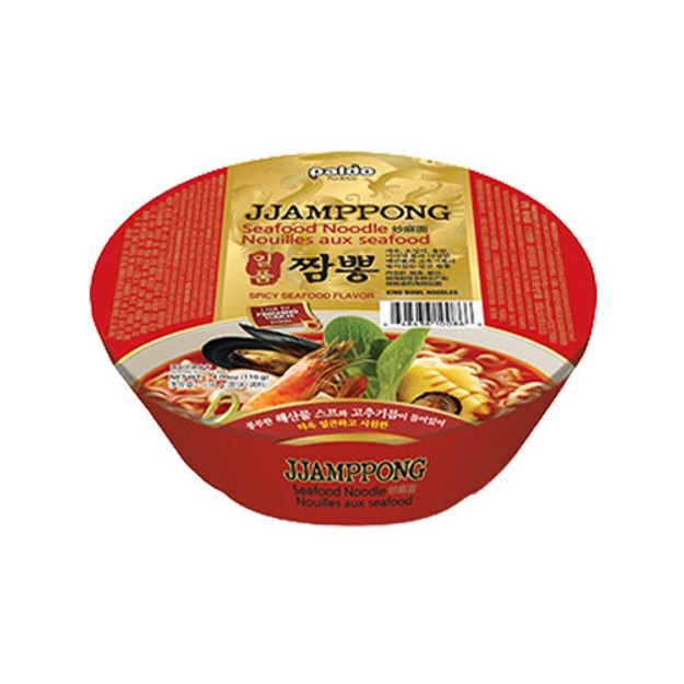 Product Detail - PALDO Seafood Noodle Bowl Spicy Flavor 116g - image 0