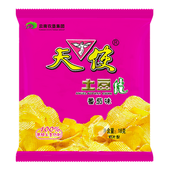 ANGEL Potato Chips-Tomato Flavor 18g