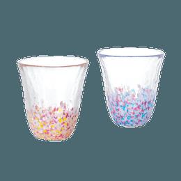 ISHIZUKA GLASS 石塚硝子||津轻 玻璃樱花油菜花晴空玻璃杯2只套装  FS-62509||1套