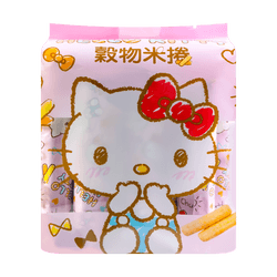Pei Tien Hello Kitty Grains Rice Roll - Pink 160g