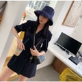 PRINSTORY 2019 Spring/Summer Suit Double Button Dress Navy/M