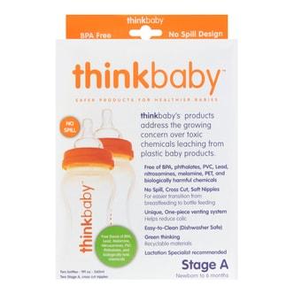 THINKBABY Twin Pack - Stage A Baby Bottle Under 6 Months 6ml 260ml