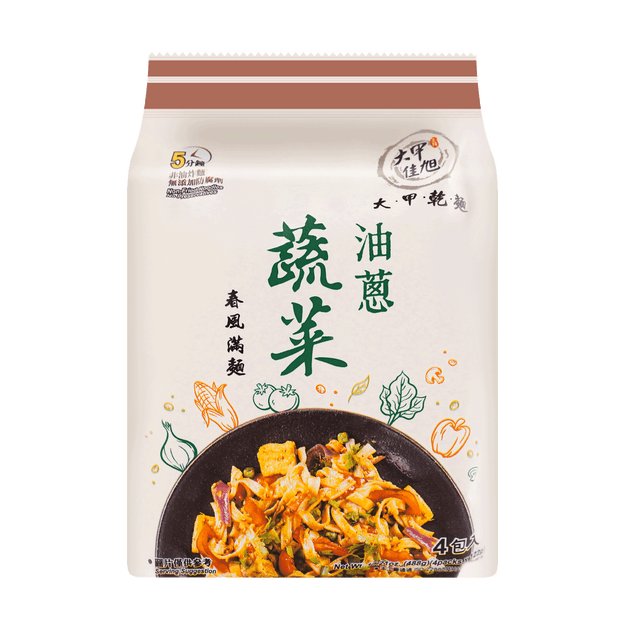 Product Detail - DAJIA Noodles Vegetable Two-color Noodle Oil Onion 440g - image 0