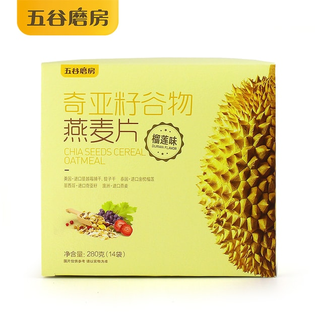 Product Detail - WUGU MOFANG CHIA SEEDS OATMEAL DURIAN FLAVOR 280g - image 0