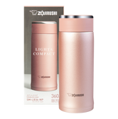 ZOJIRUSHI Stainless Steel Thermal Bottle Rose Gold 360ml SM-LB36
