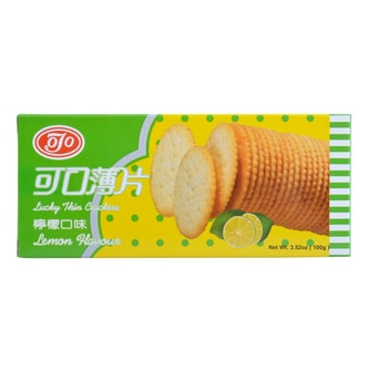 KEKOU Lucky Thin Lemon Craker 100g