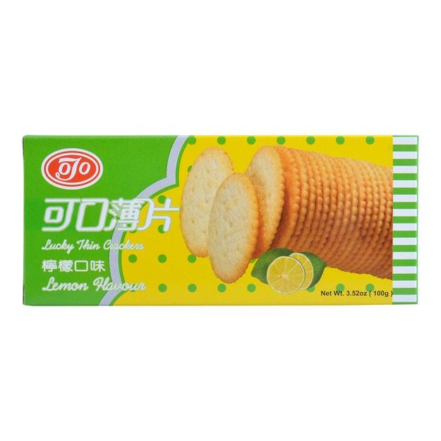 商品详情 - 台湾可口 薄片饼干 柠檬口味 100g - image  0