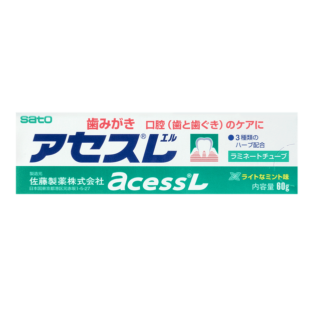 Product Detail - Sato Acess L Japanese Toothpaste For Oral (Teeth & Gums) Care 60g - image 0