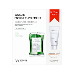 WONJIN EFFECT Energy Supplement Mask 30g x 10 Sheets & Cleansing Special Kit + 80ml