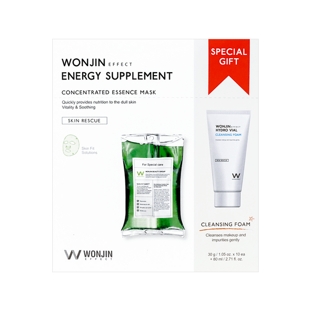 Product Detail - WONJIN EFFECT Energy Supplement Mask 30g x 10 Sheets & Cleansing Special Kit + 80ml - image 0