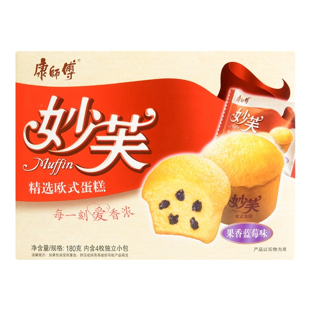 Product Detail - 【Clearance】MASTER KONG Muffin Blueberry Flavor 4packs 180g - image 0
