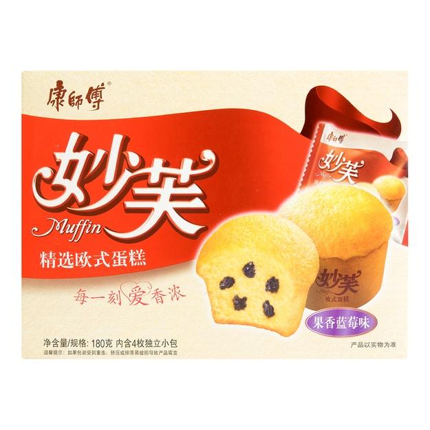 商品详情 - 康师傅 妙芙 精选欧式蛋糕 果香蓝莓味 4枚入 180g - image  0