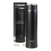 ZOJIRUSHI Stainless Steel Thermal Bottle Black 600ml SM-LB60-BZ