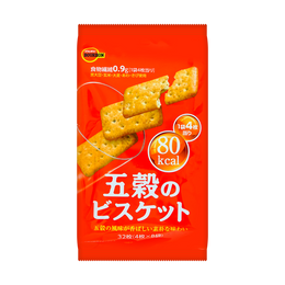 日本BOURBON波路梦 五谷苏打饼干 原味 133g