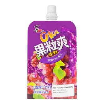 喜之郎 CICI 果粒爽红葡萄汁饮料 258ml