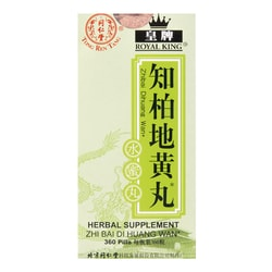 ROYAL KING Tong Ren Tang Herbal Supplement Zhi Bai Di Huang Wan 360 pills 72g