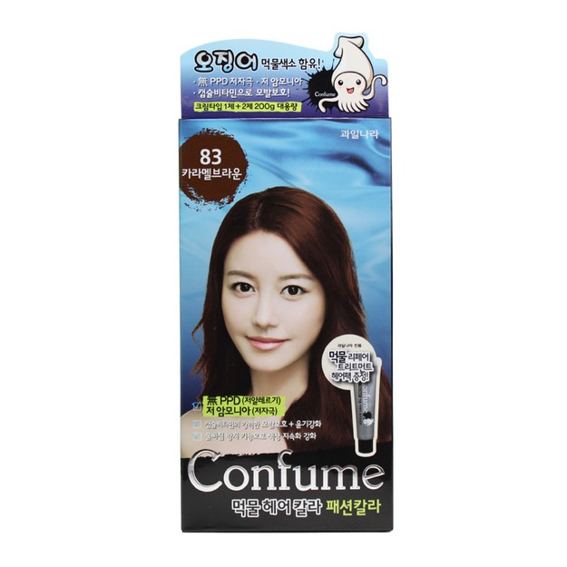 Product Detail - FRUIT LAND CONFUME Squid Ink Hair Color #83CaramelBrown - image 0