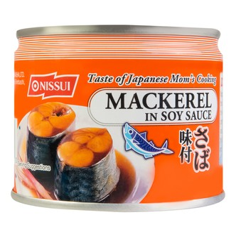 日本NISSUI 鲭鱼罐头 味付酱油味 190g
