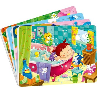 邦臣小红花·动手动脑玩拼图(3-4岁 套装全4册)
