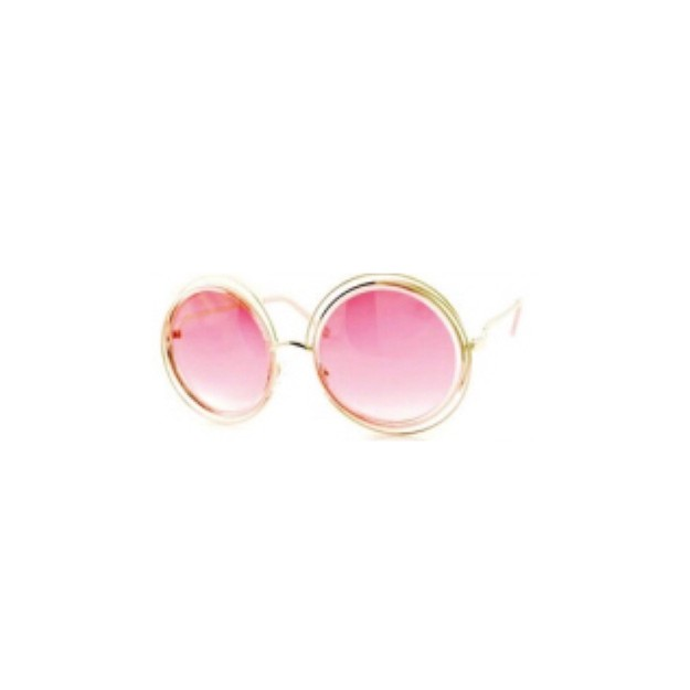 Product Detail - RETRO POP Fashion Sunglasses 7178 Gold Frame/Red Lens - image 0