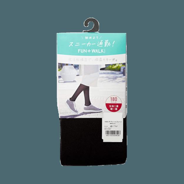 商品详情 - ATSUGI 厚木||BAR 双层针织素色保暖防静电尼龙裤袜||180D L-LL 1件 - image  0