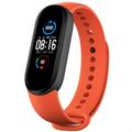 [中国直邮]小米 MI 小米手环5 标准NFC通用多彩腕带 智能运动手环替换带 亲肤材质透气吸汗 官方正品  动感橙 1个装