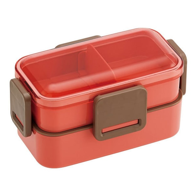 Product Detail - SKATER Double-Layer 4-Point Lock Lunch Box  Salmon Pink  - image 0