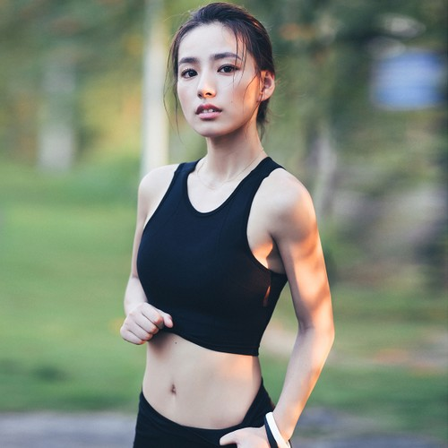 SYLPHLIKE LOLI Sports Vest Bra  For Running Yoga Fitness Train/Pink#/C80/L